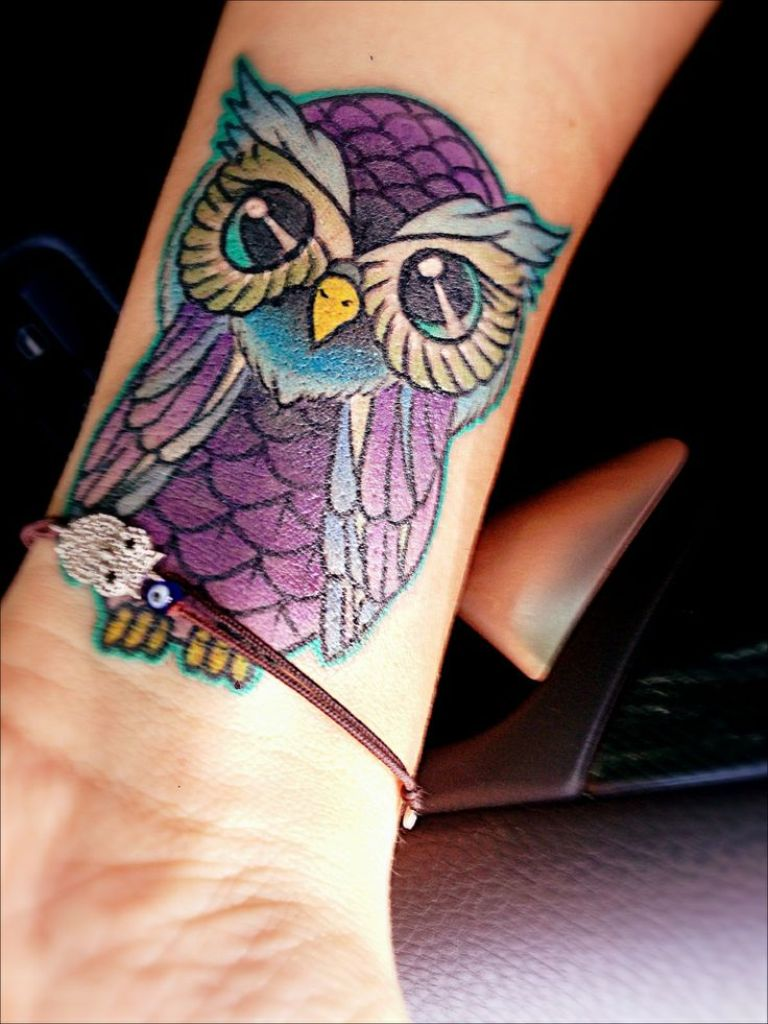 36 Attractive Owl Wrist Tattoos Design Ideas And Designs