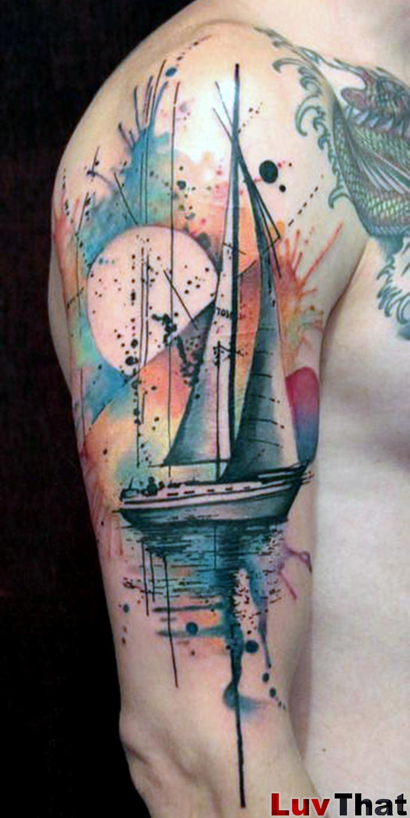25 Amazing Watercolor Tattoos – Luvthat Ideas And Designs