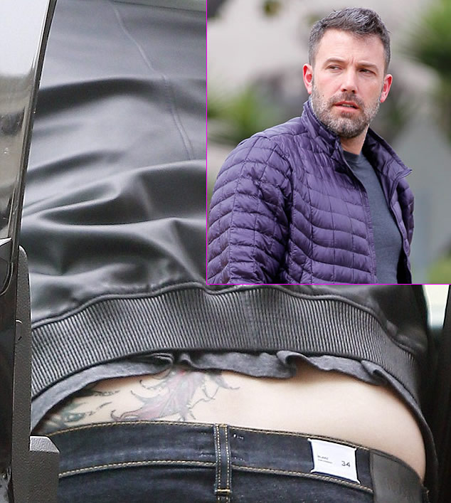 Ben Affleck Spotted With Giant Back Tattoo Following Ideas And Designs