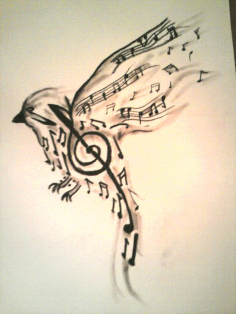 Pajaro Musical We Heart It Music Bird And Tattoo Ideas And Designs