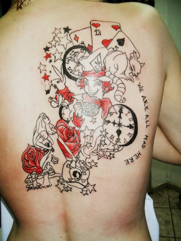 25 Mad Alice In Wonderland Tattoos Entertainmentmesh Ideas And Designs