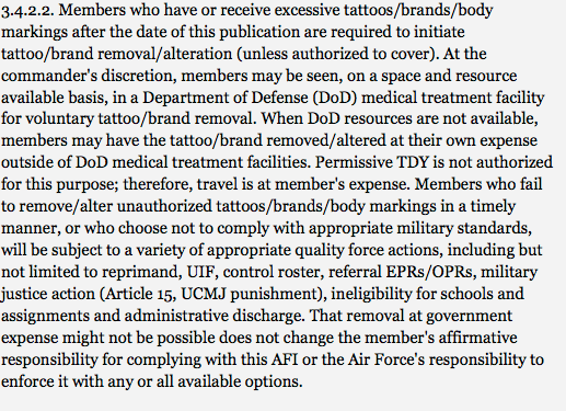 Air Force Regulations And Tattoo Cover Up Policy Ferbs Ideas And Designs