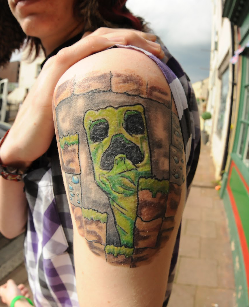 Minecraft Creeper Themed Tattoos Fan Or Fail Gearcraft Ideas And Designs