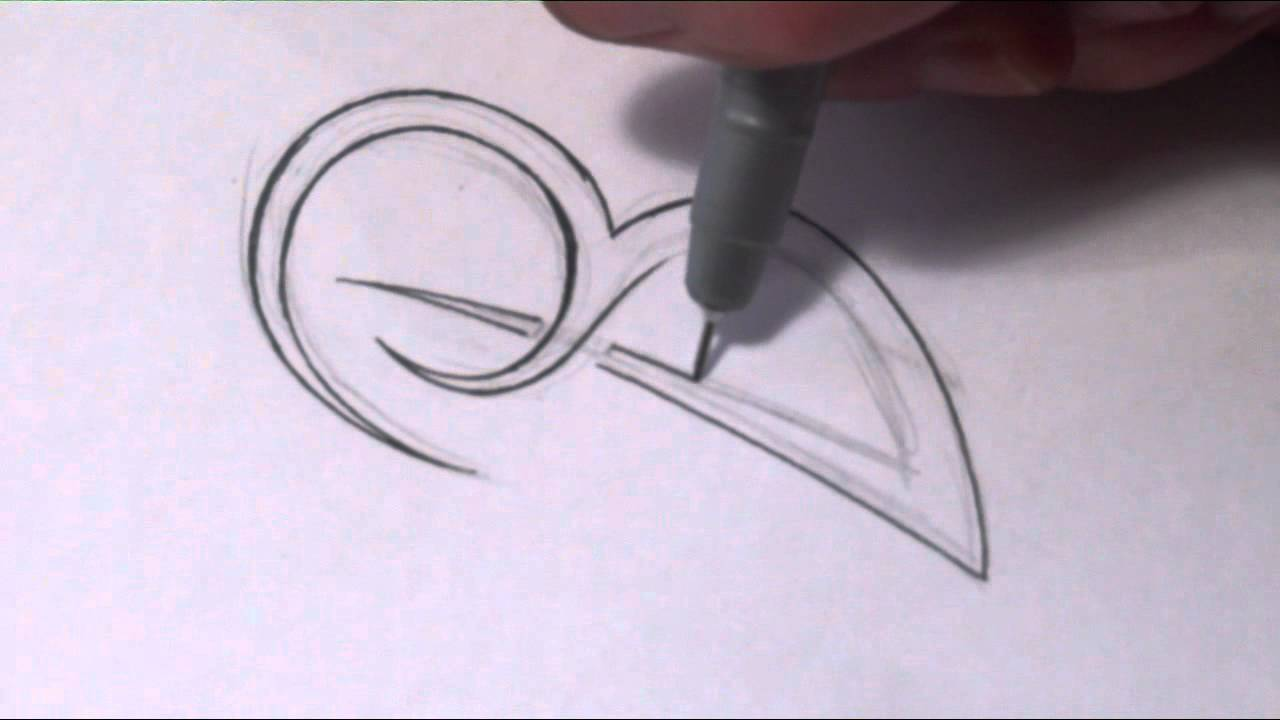How To Draw A Simple Tribal Letter B Youtube Ideas And Designs