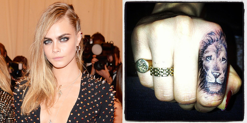 Cara Delevingne S Lion Finger Tattoo Popsugar Beauty Ideas And Designs