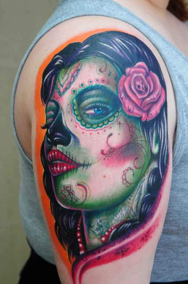 Day Of The Dead Tattoo Big Gus By Cupcakecouture4Ever On Ideas And Designs