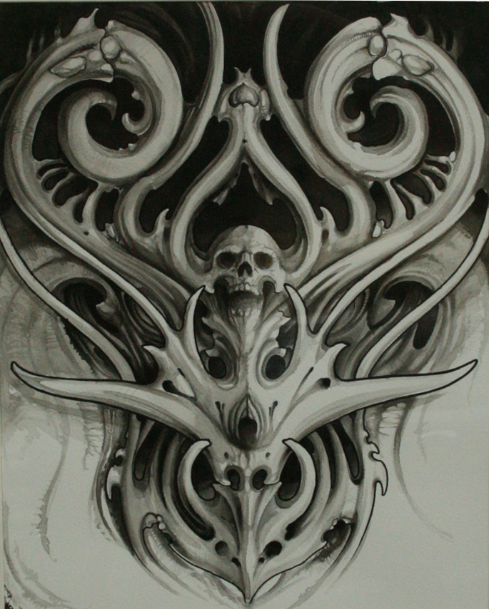 Biomechanical By Chrisreedtattoo On Deviantart Ideas And Designs