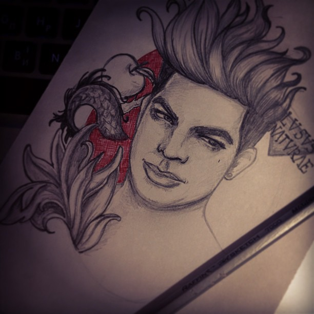Adam Lambert S Tattoos By Arteleanor On Deviantart Ideas And Designs