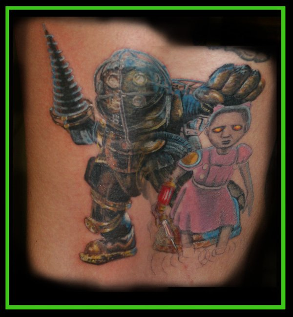 Residentgamer K Is For Kick *Ss Bioshock Tattoo Ideas And Designs