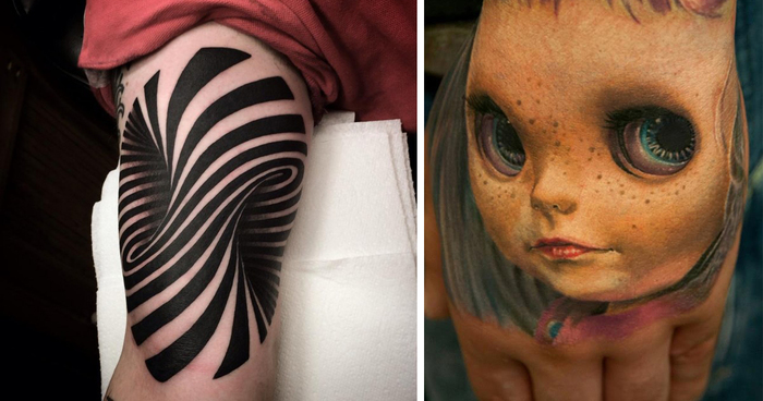 25 Crazy 3D Tattoos That Will Twist Your Mind Bored Panda Ideas And Designs