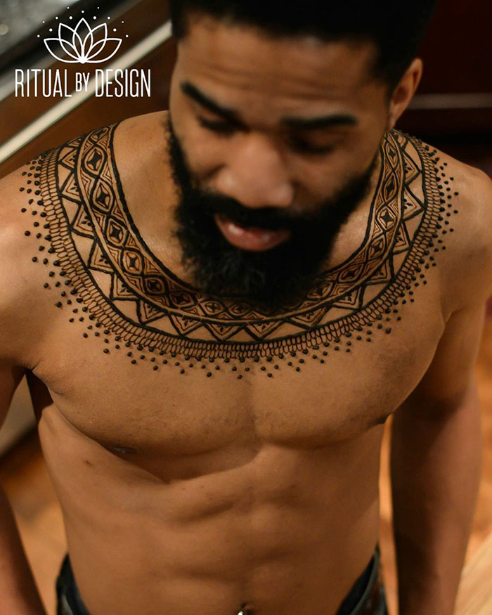 'Menna' Trend Sees Men Wearing Intricate Henna Tattoos Ideas And Designs