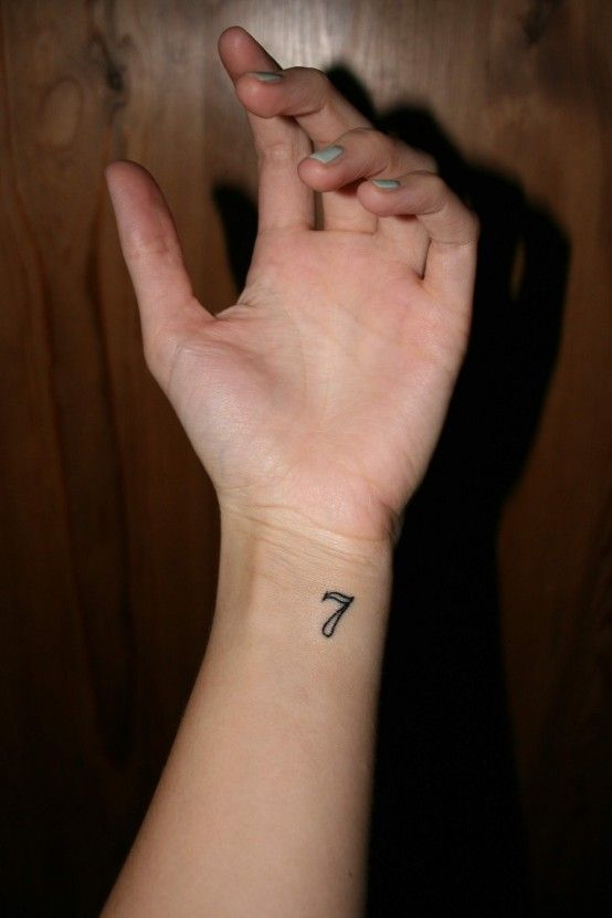 Lucky Number Seven Tattoos Tattoo Ideas Pinterest Ideas And Designs