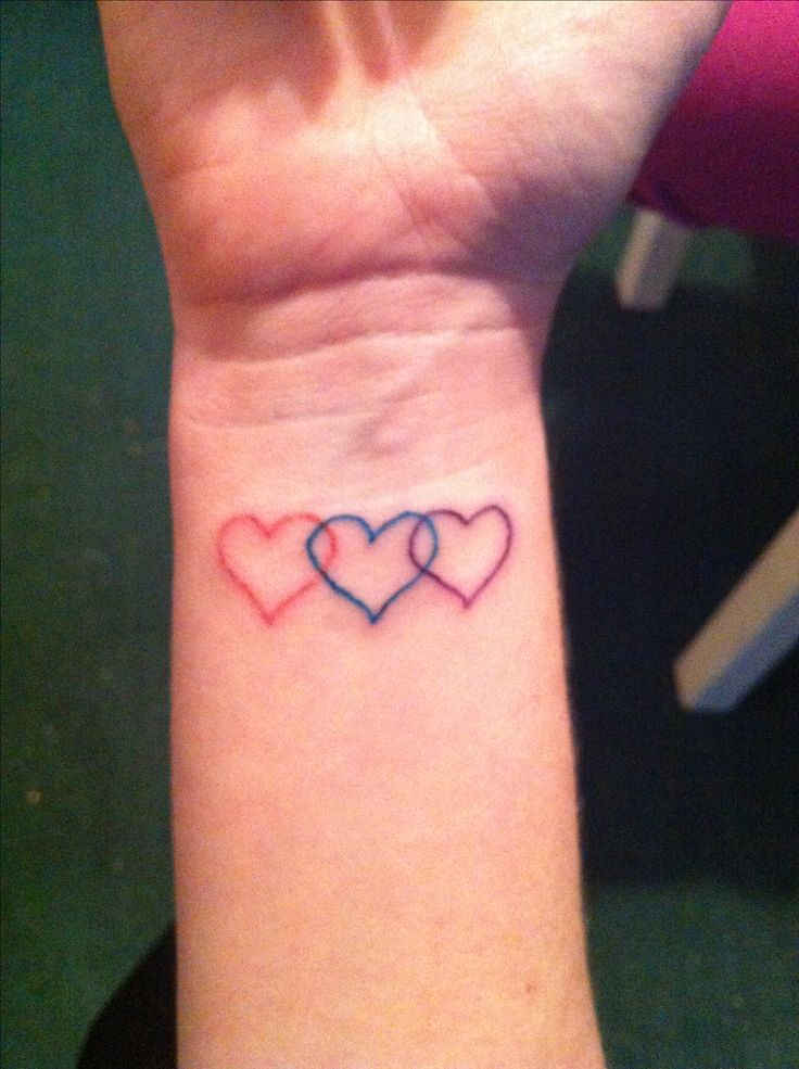 Three Hearts Tattoo Tattoos Pinterest Ideas And Designs