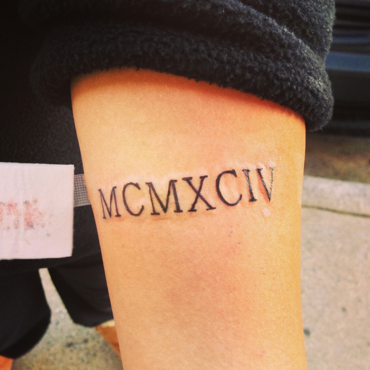 1994 In Roman Numerals My Tattoos Pinterest Ideas And Designs