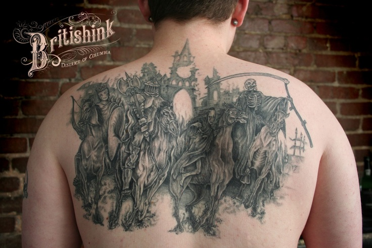 Four Horsemen Tattoo By Britishink D C Tattoos Ideas And Designs
