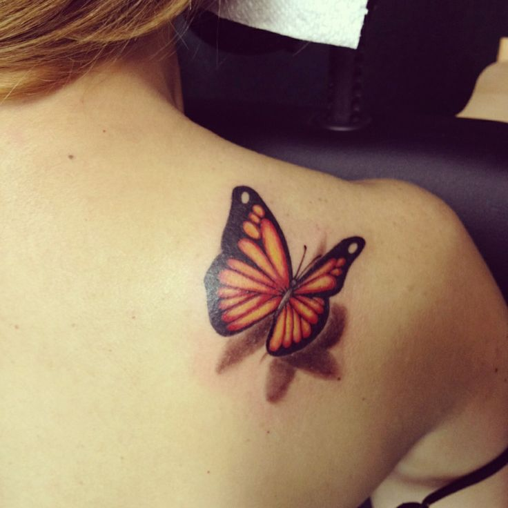 3D Butterfly Tattoo On My Shoulder Taylor S Tattoos Ideas And Designs