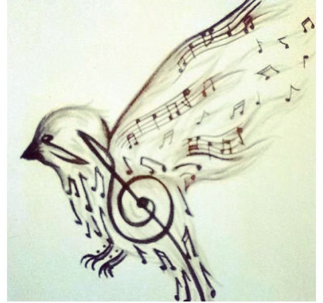 Music Bird Tattoo Ideas And Designs