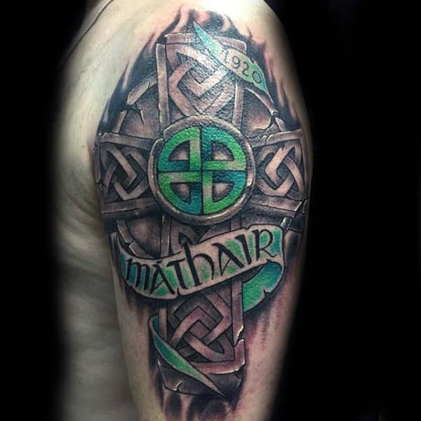 100 Celtic Cross Tattoos For Men Ancient Symbol Design Ideas Ideas And Designs