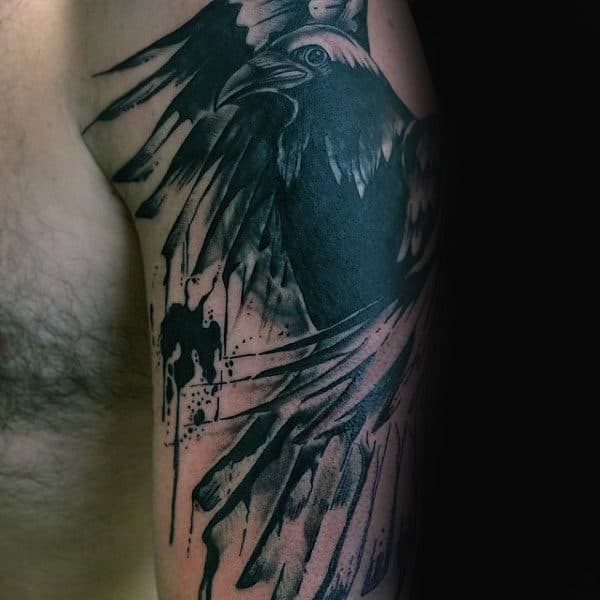 100 Crow Tattoo Designs For Men Black Bird Ink Ideas Ideas And Designs