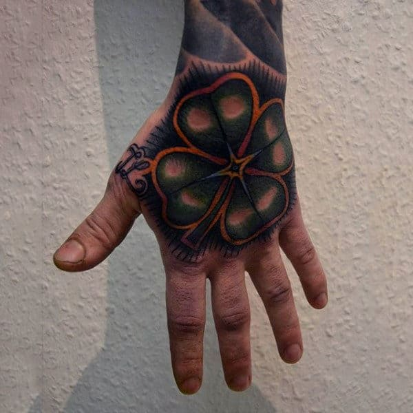 60 Four Leaf Clover Tattoo Designs For Men Good Luck Ink Ideas And Designs