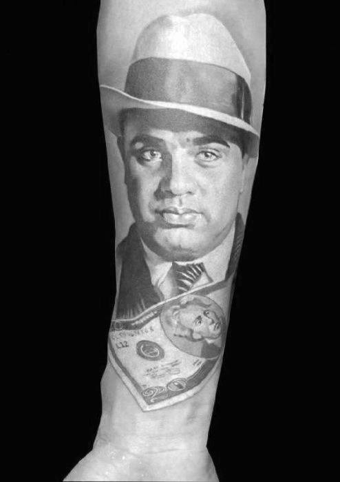 50 Al Capone Tattoos For Men Gangster Design Ideas Ideas And Designs