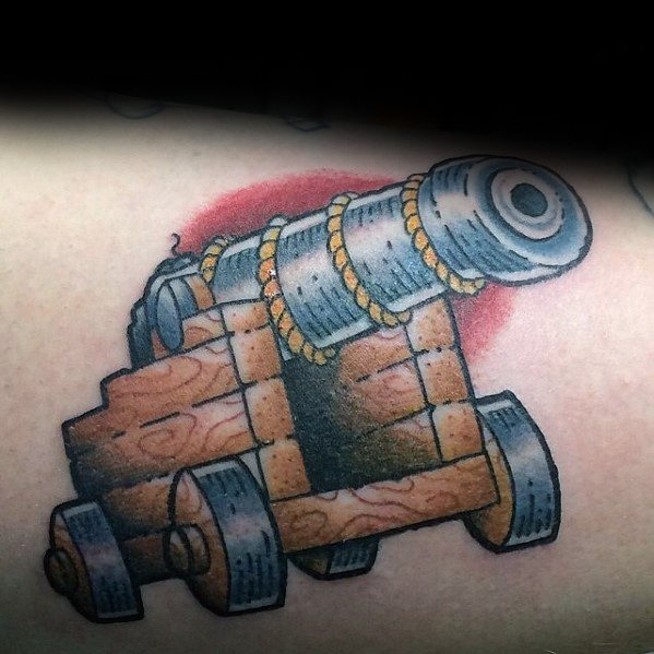 40 Cannon Tattoo Designs For Men Explosive Ink Ideas Ideas And Designs