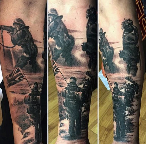 100 Military Tattoos For Men Memorial War Solider Designs Ideas And Designs