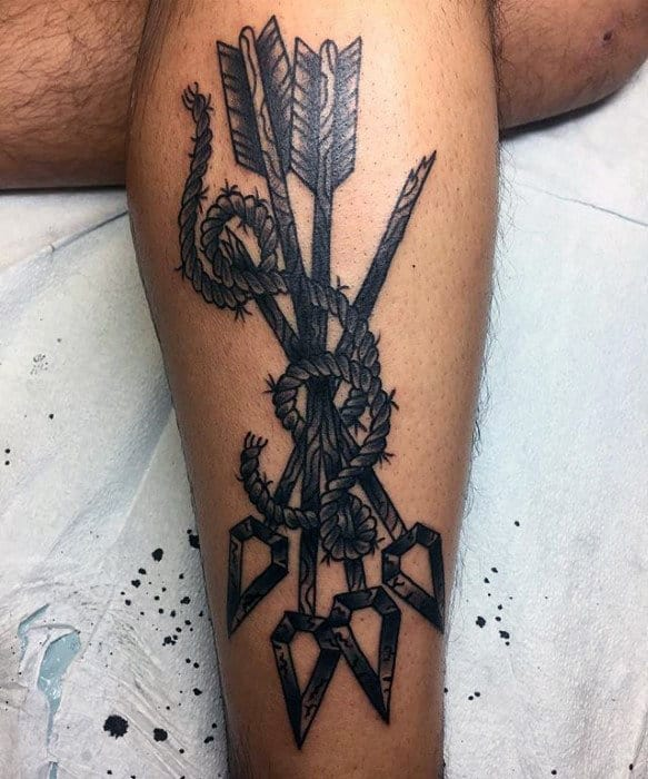 50 Traditional Arrow Tattoo Designs For Men Archery Ideas Ideas And Designs