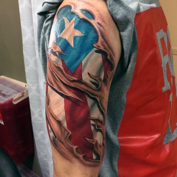 50 Puerto Rican Flag Tattoo Ideas For Men Puerto Rico Ideas And Designs