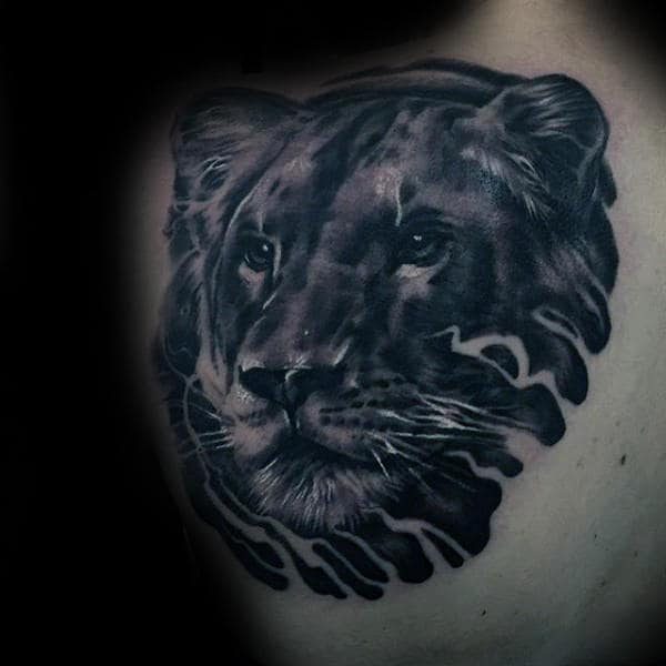 50 Lion Back Tattoo Designs For Men Masculine Big Cat Ideas And Designs