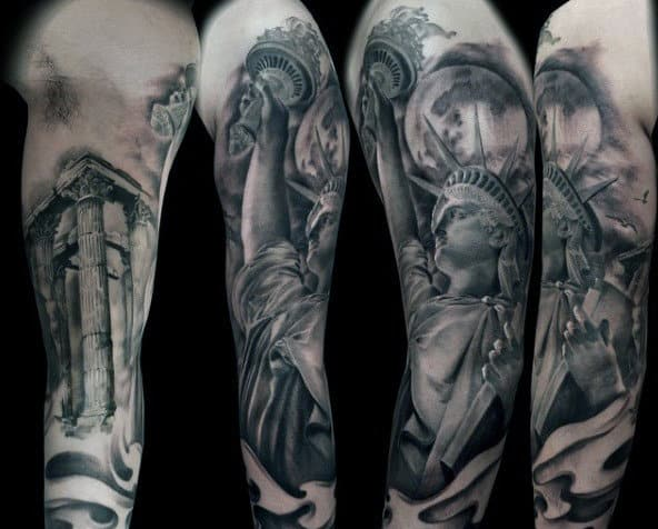 70 Statue Of Liberty Tattoo Designs For Men New York City Ideas And Designs