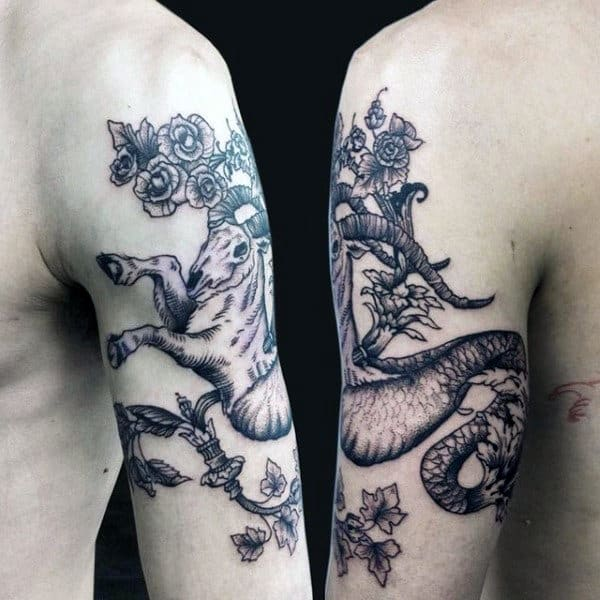 60 Capricorn Tattoos For Men Astrological Ink Design Ideas Ideas And Designs
