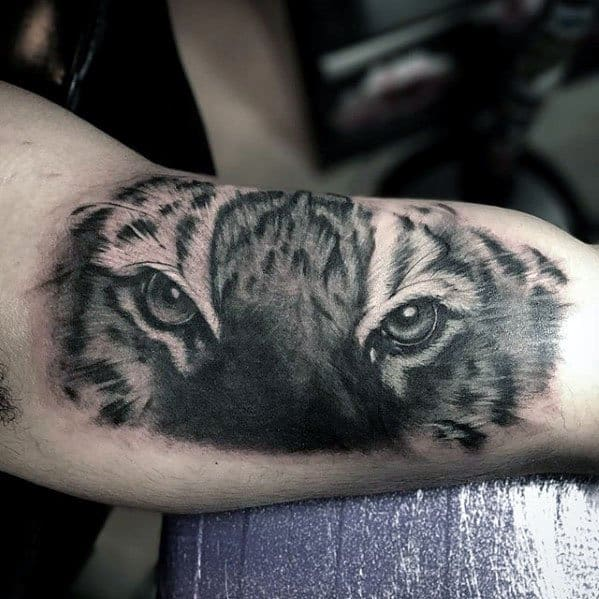 40 Tiger Eyes Tattoo Designs For Men Realistic Animal Ideas And Designs