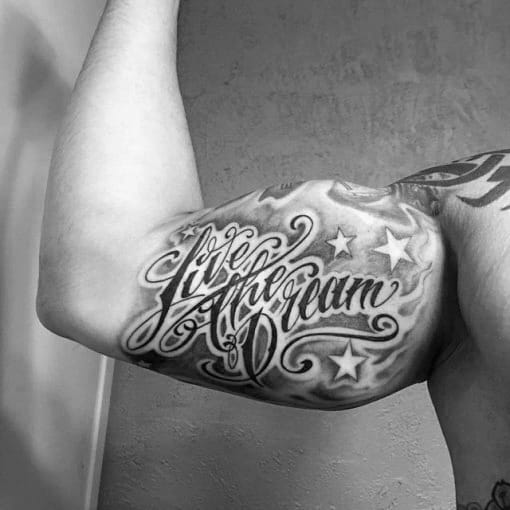 30 Dream Tattoo Designs For Men Word Ink Ideas Ideas And Designs