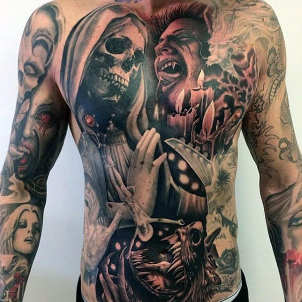 60 Vampire Tattoos For Men Bite Into Cool Designs Ideas And Designs