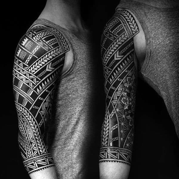 90 Tribal Sleeve Tattoos For Men Manly Arm Design Ideas Ideas And Designs