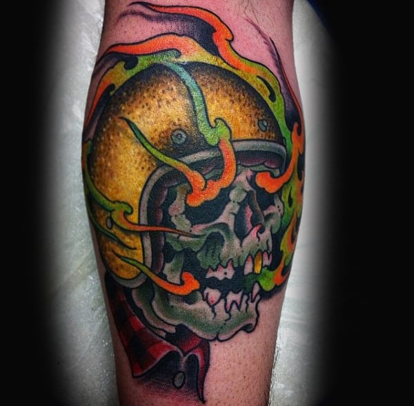 70 Biker Tattoos For Men Manly Motorcycle Ink Design Ideas Ideas And Designs