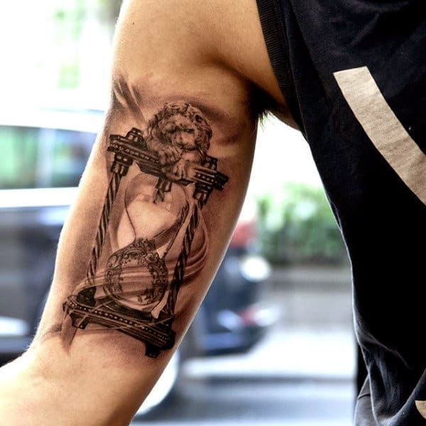 60 Hourglass Tattoo Designs For Men Passage Of Time Ideas And Designs