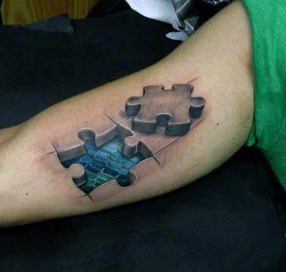 70 Puzzle Piece Tattoo Designs For Men Inquisitive Mind Ink Ideas And Designs