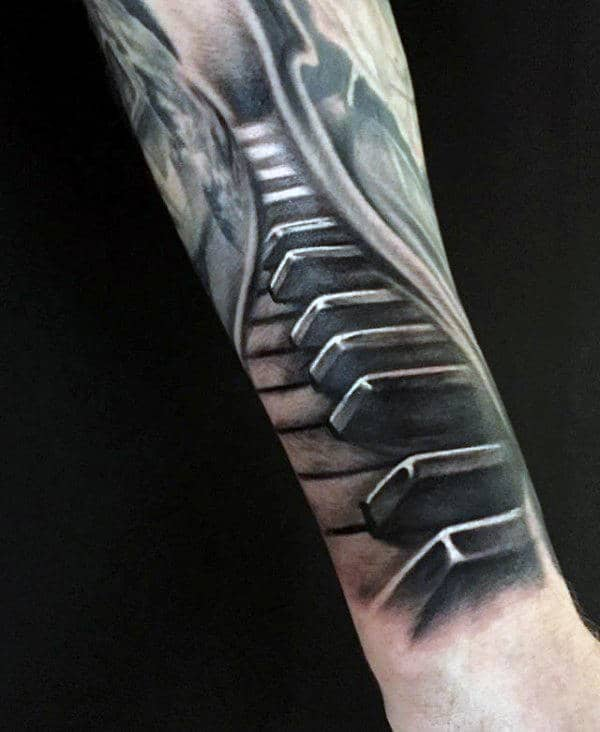 60 Piano Tattoos For Men Music Instrument Ink Design Ideas Ideas And Designs