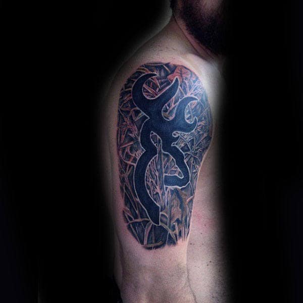 40 Browning Tattoos For Men Deer Ink Design Ideas Ideas And Designs
