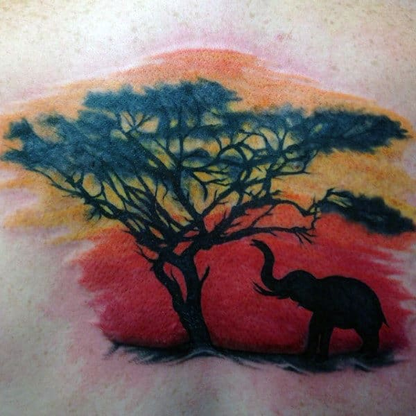 90 Sunset Tattoos For Men Fading Daylight Sky Designs Ideas And Designs