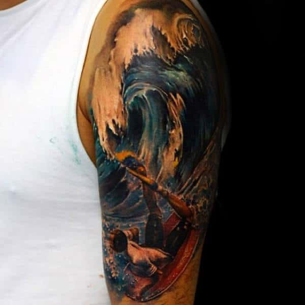 90 Surf Tattoos For Men Oceanic Design Ideas Ideas And Designs
