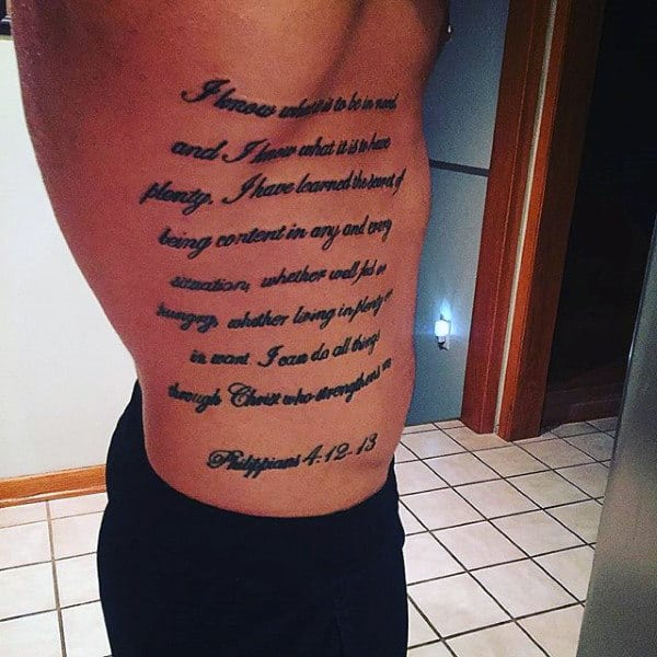 40 Philippians 4 13 Tattoo Designs For Men Bible Verse Ideas Ideas And Designs