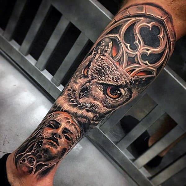 50 3D Leg Tattoo Designs For Men Manly Ink Ideas Ideas And Designs