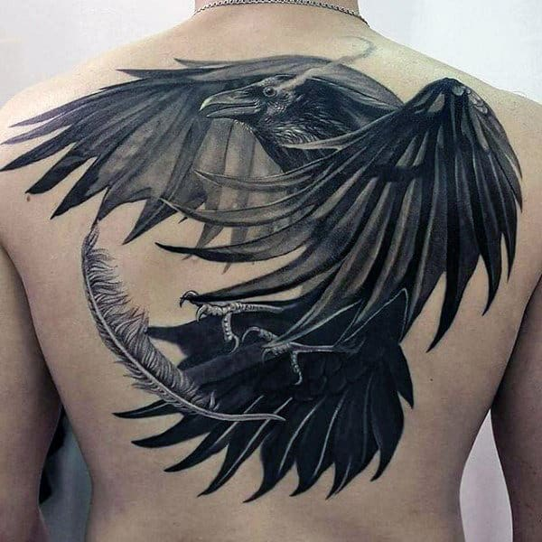 100 Raven Tattoo Designs For Men Scavenge Sooty Bird Ink Ideas And Designs
