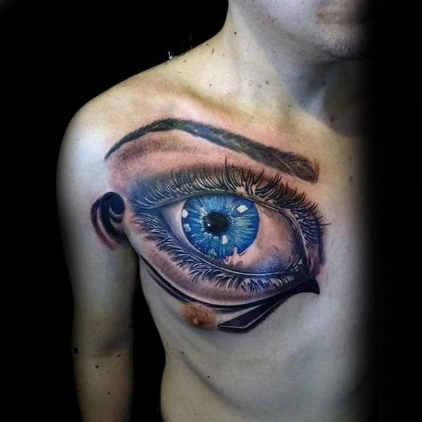 50 Eye Of Horus Tattoo Designs For Men Egyptian Ideas And Designs