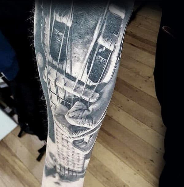 60 Music Sleeve Tattoos For Men Lyrical Ink Design Ideas Ideas And Designs