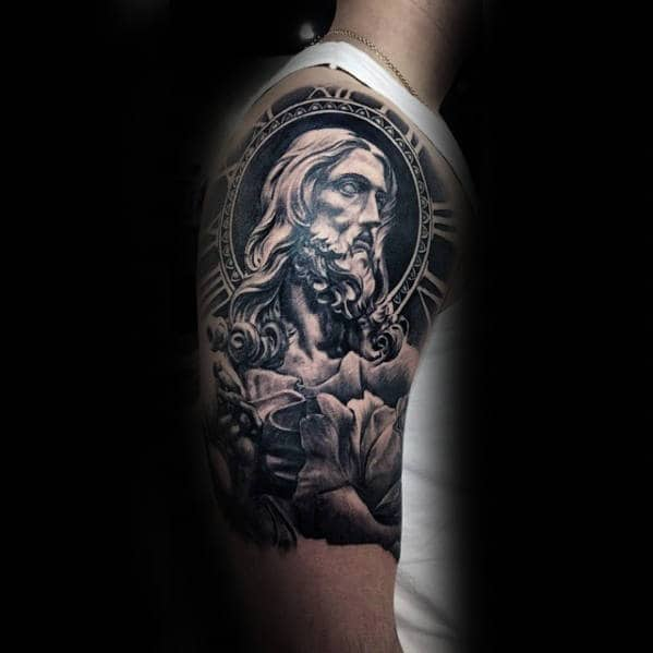 60 Jesus Arm Tattoo Designs For Men Religious Ink Ideas Ideas And Designs