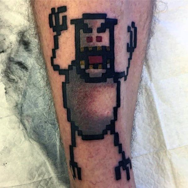 60 8 Bit Tattoo Designs For Men Cool Retro Ink Ideas Ideas And Designs